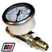 Fuel Pressure Test Gauge Inline Adaptor With AN8 Hose Fittings High Pressure